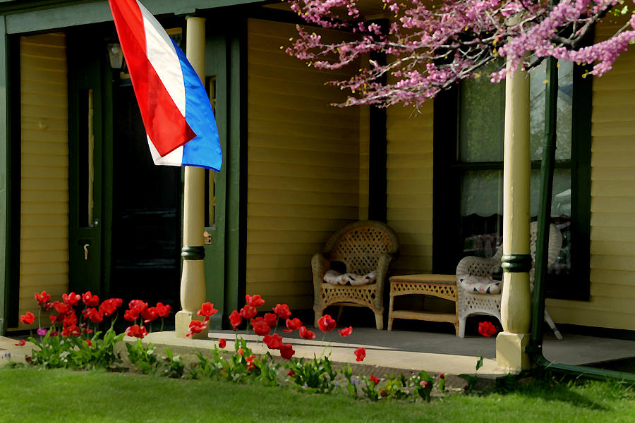 Porch Photograph - Front Porch by Lyle  Huisken