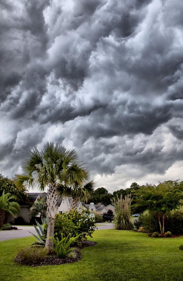 Charleston South Carolina Frontal Clouds Lowcountry Palm Tree Hdr Dustin Ryan James Island Photograph - Frontal Clouds by Dustin K Ryan