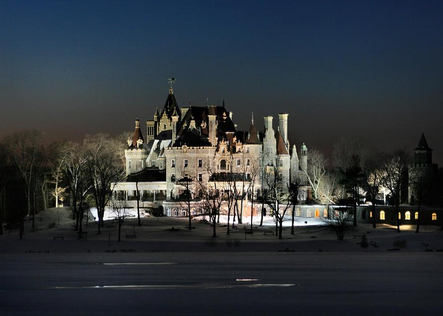 Thousand Islands Photograph - Frozen Boldt Castle by Lori Deiter