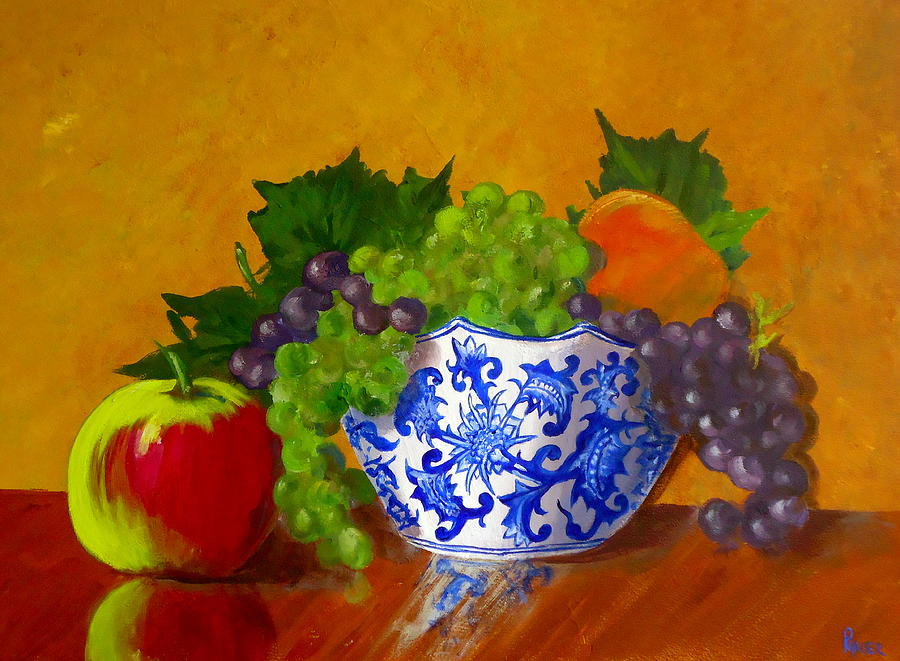 Still Life Painting - Fruit Bowl II by Pete Maier