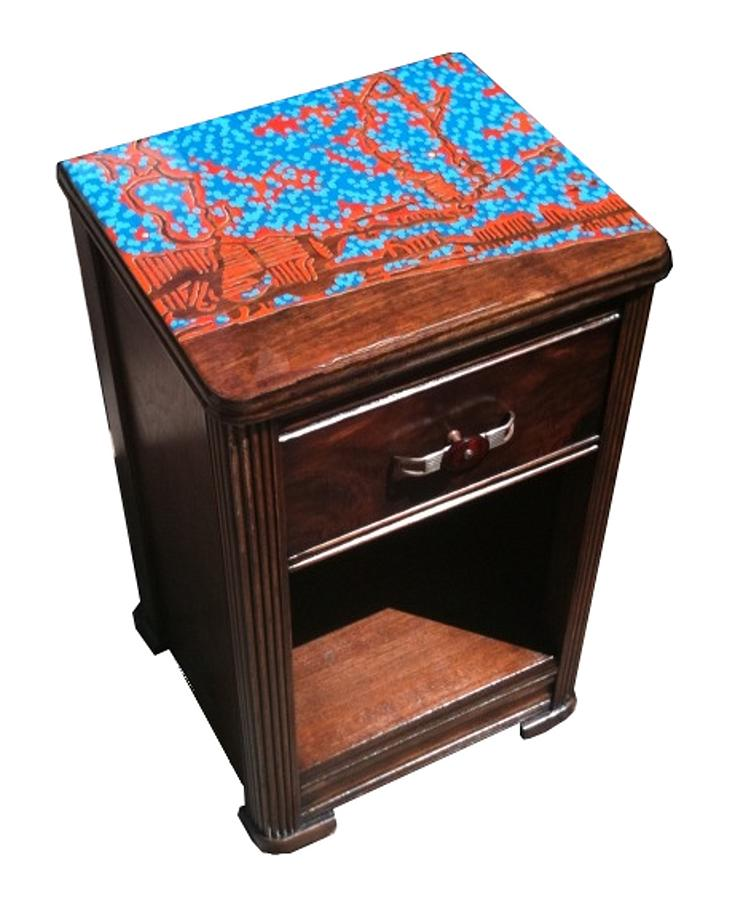 Ft Lauderdale Painting - Ft Lauderdale In Resin - End Table by Jason Charles Allen