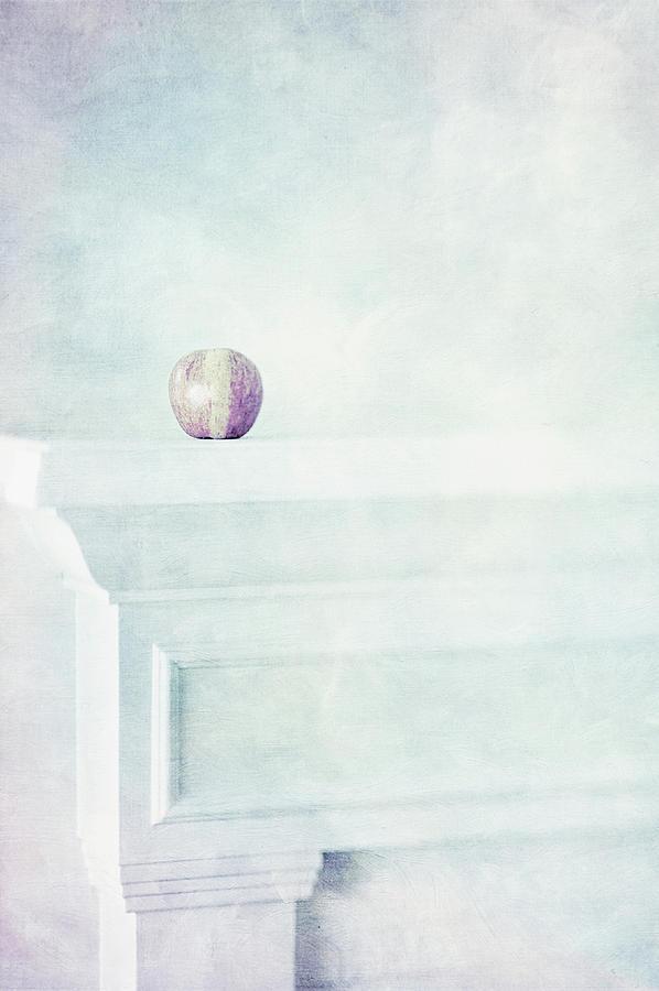 Fuji Apple On White Fireplace Mantel Photograph