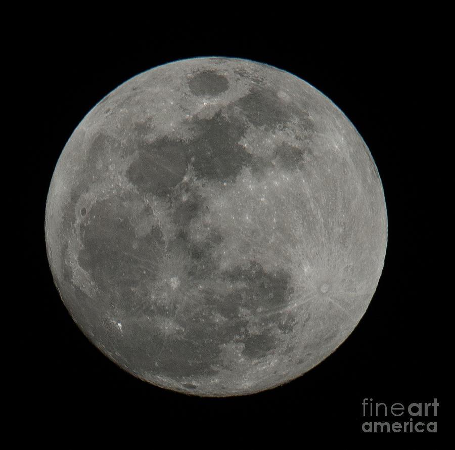 Full Moon Closeup Photograph