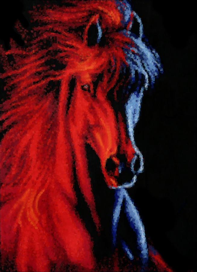 Horse Digital Art - Full Tilt by Kristin Elmquist