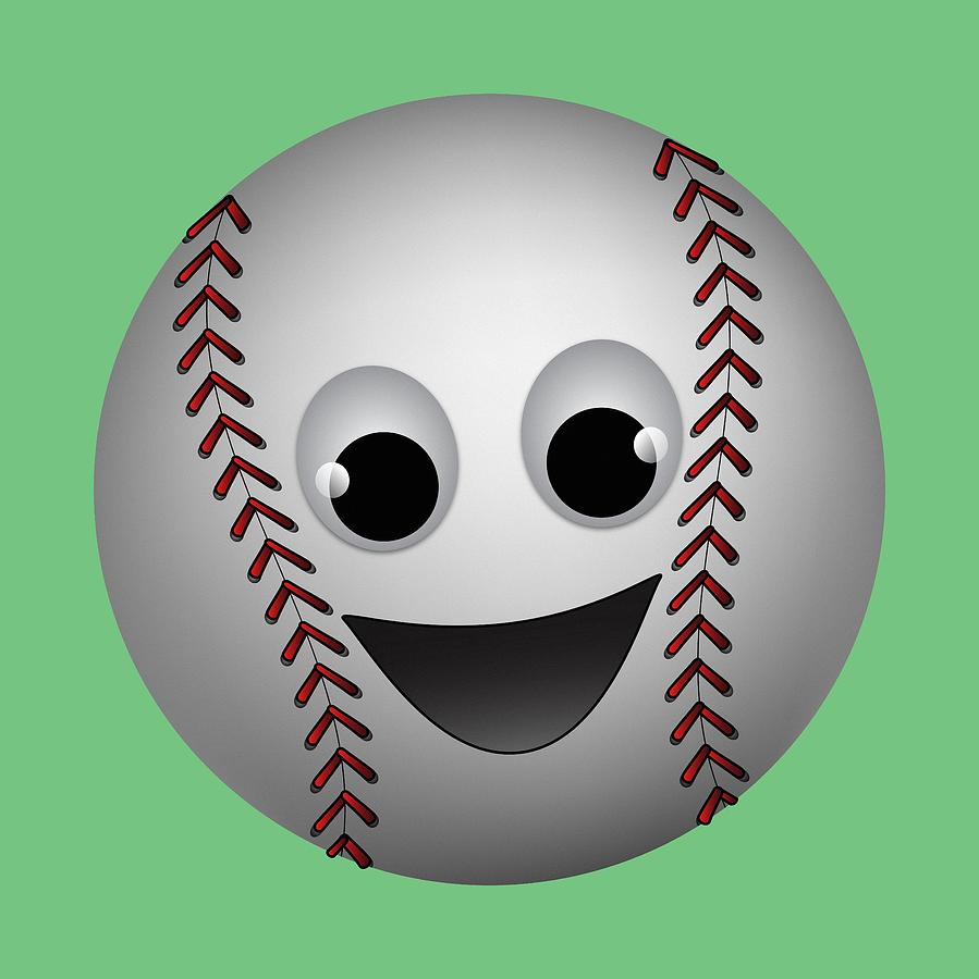 Fun Baseball Character Digital Art