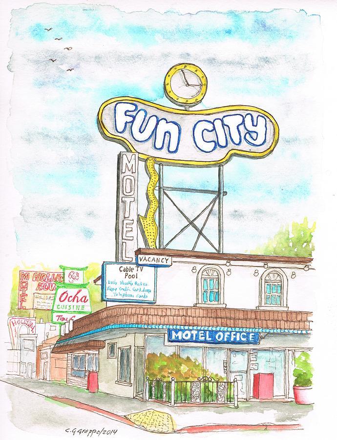 Fun City Motel, Las Vegas, Nevada Painting