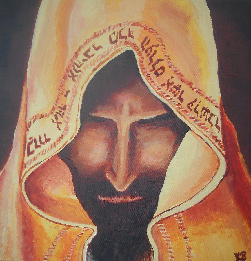 Prayer Painting - Fundraise Series 3 Praying Jew by Kerstin Berthold