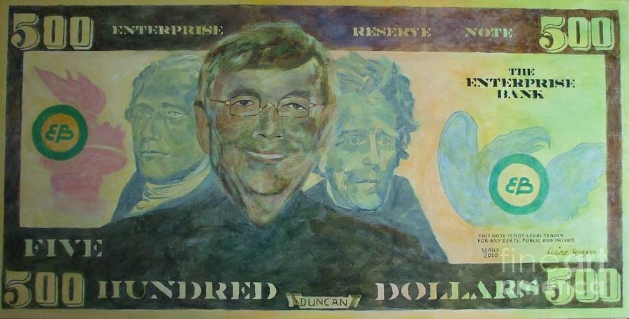 Money Painting - Funny Money by Claire Gagnon