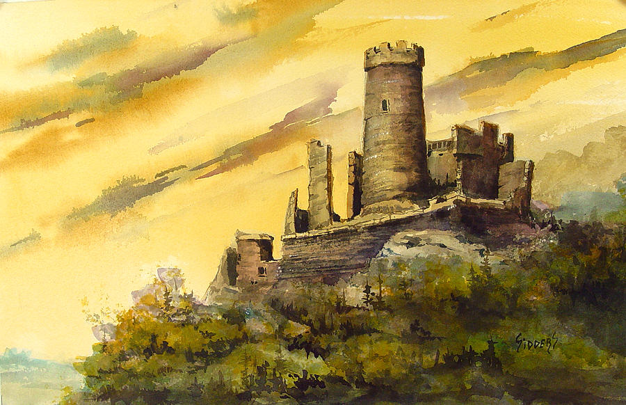Castle Painting - Furstenburg On The Rhine by Sam Sidders