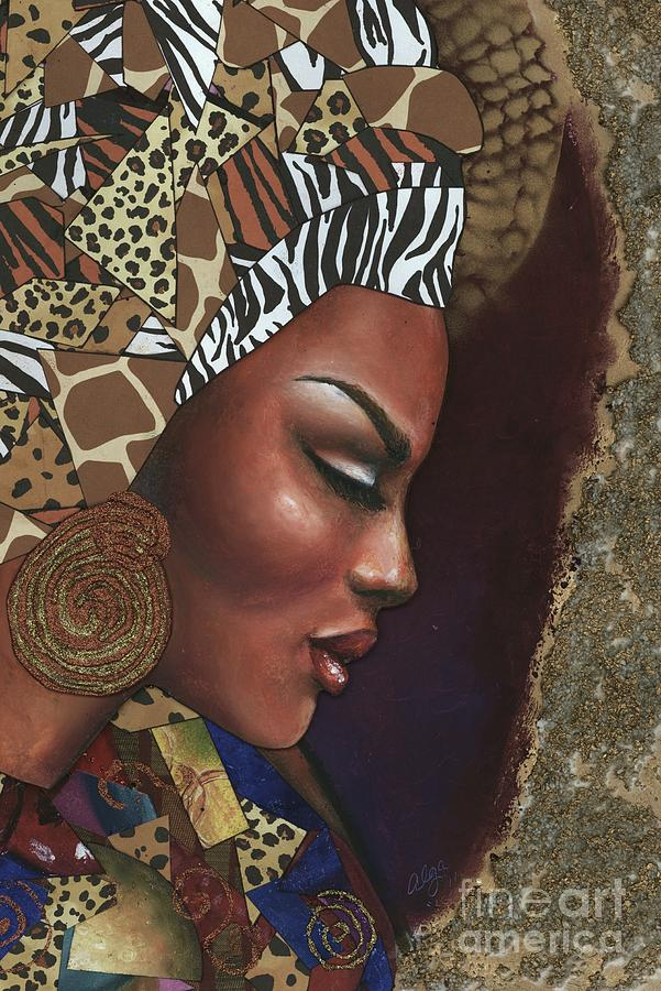 Woman Mixed Media - Further Contemplation by Alga Washington