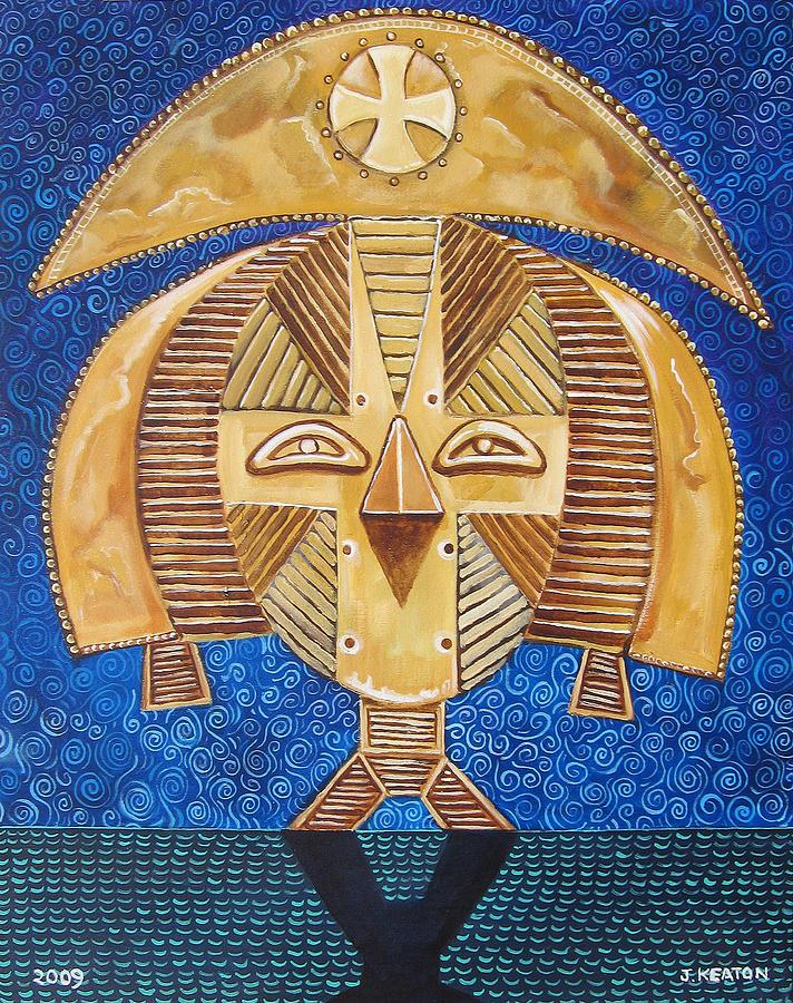 Gabon Painting - Gabon Mask - A Multi-cultural Celebration by John Keaton