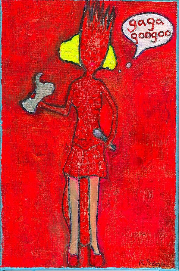 Lady Gaga Painting - Gaga Googoo by Ricky Sencion