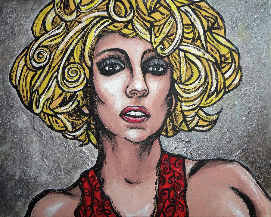 Lady Painting - Gaga by Sarah Crumpler