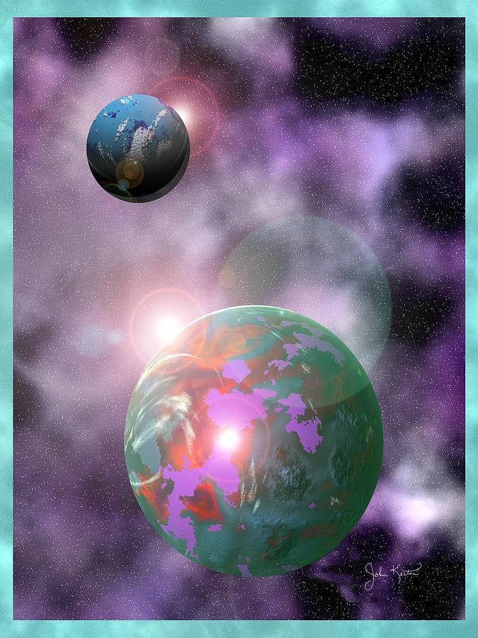 Galaxy Digital Art - Galaxy 1 by John Keaton