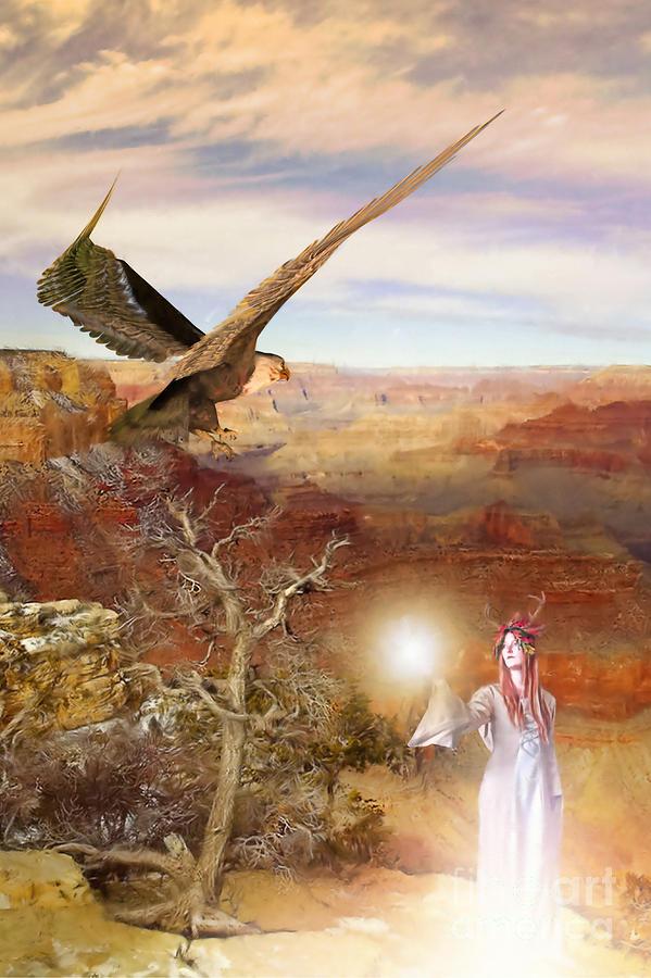 Enchanter Digital Art - Galdorcraeft by John Edwards