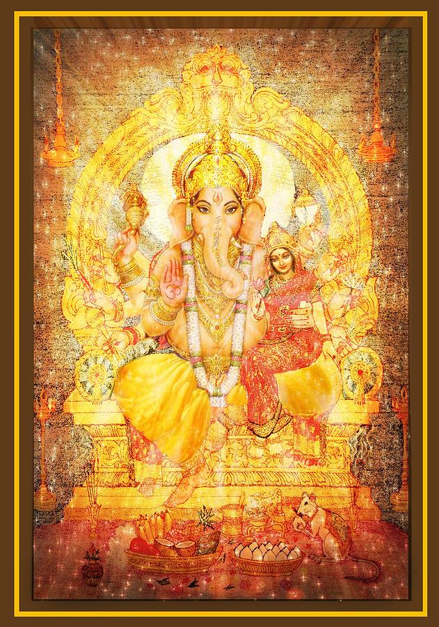 Ganesha Mixed Media - Ganesha Ganapati  by Ananda Vdovic