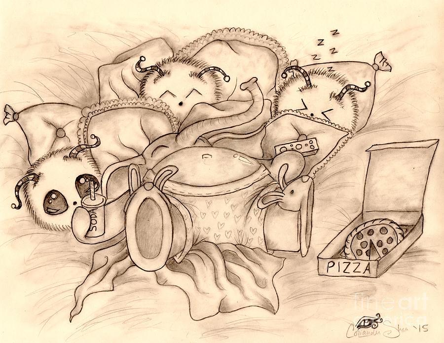 Ganesha Drawing - Ganeshas Day Off by Coriander  Shea