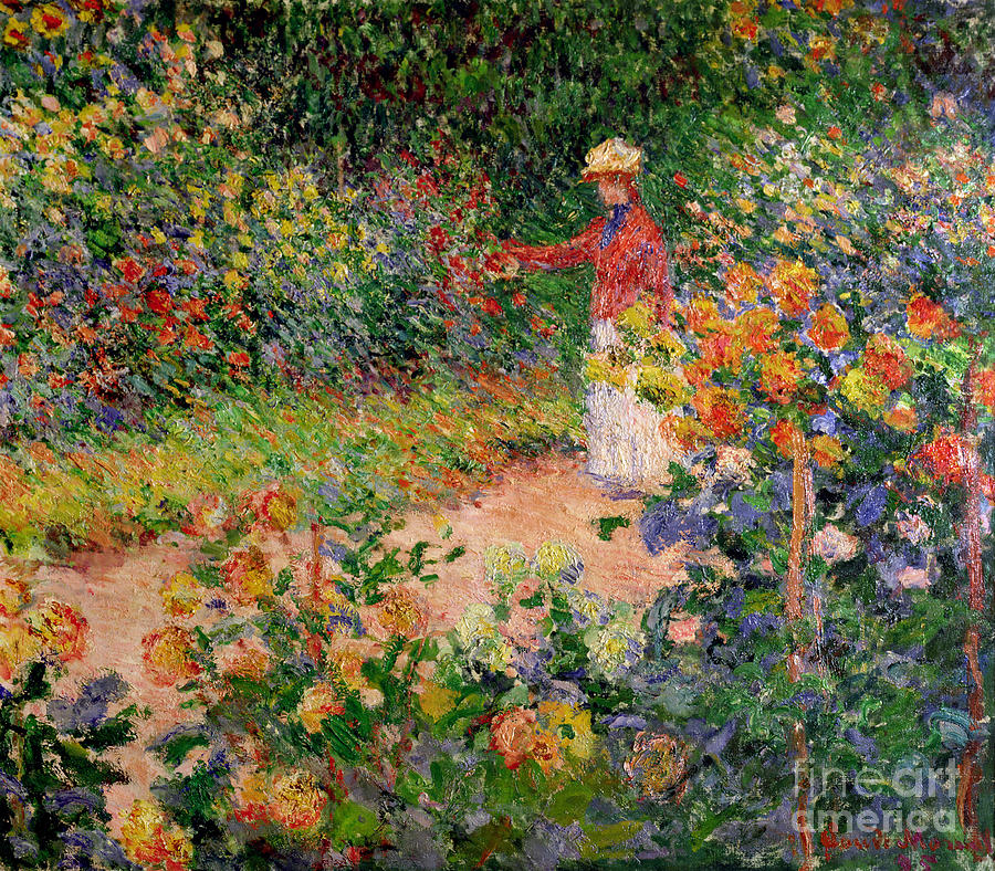 Garden At Giverny Painting - Garden At Giverny by Claude Monet