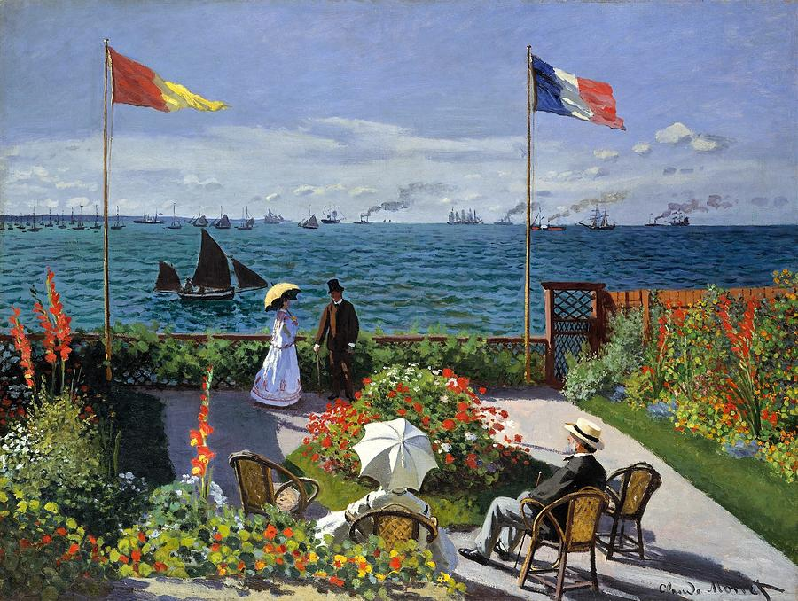 Garden At Sainte Adresse By Claude Monet Painting