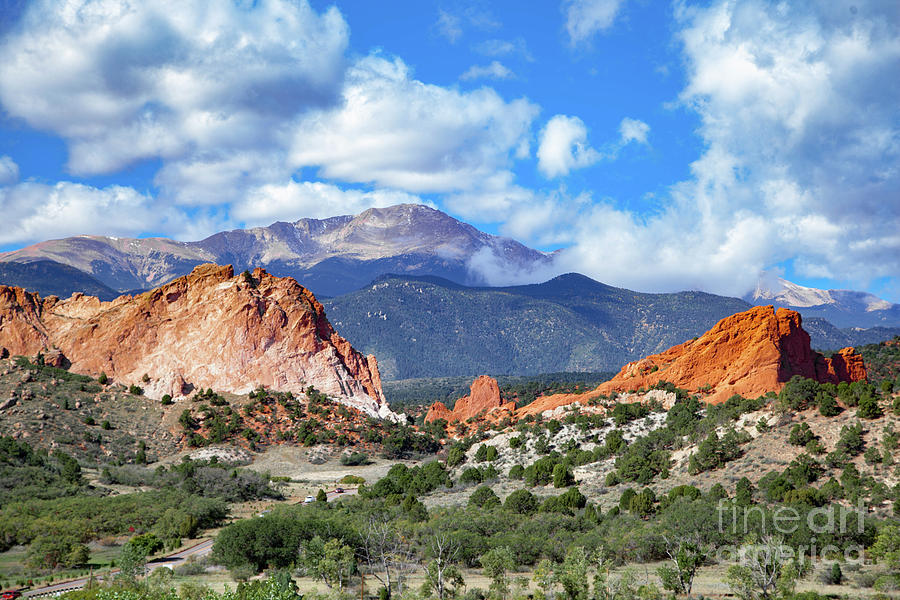 Garden Of The Gods Pikes Peak Colorado Springs Photograph