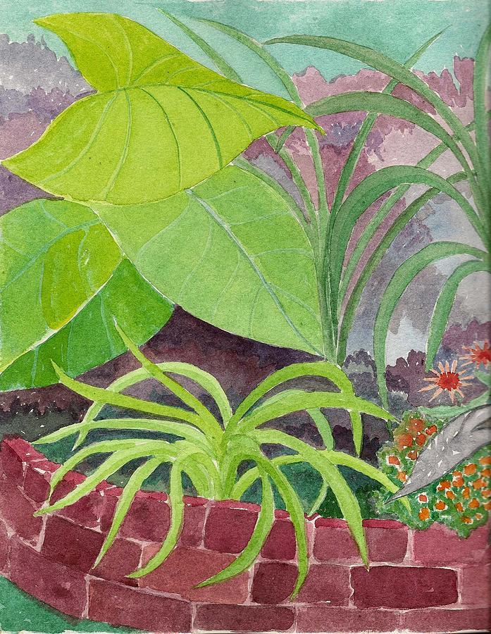 Garden Painting - Garden Scene 9-21-10 by Fred Jinkins