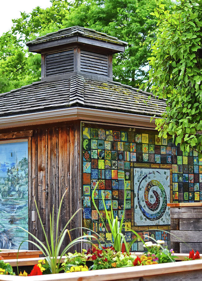 Gardens By Maria: Garden Shed Photograph By Maria Keady
