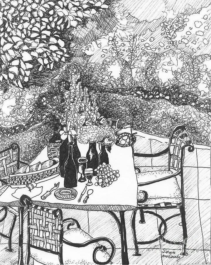 Garden Table Drawing