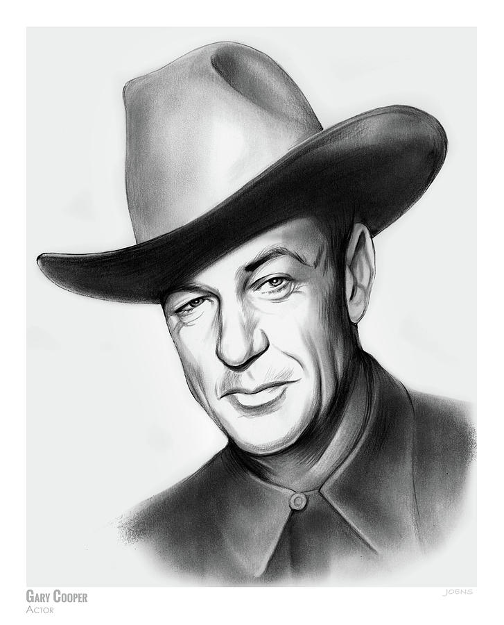 Gary Cooper Drawing