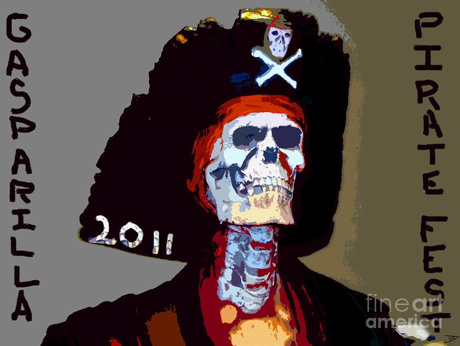 Gasparilla Painting - Gasparilla Pirate Fest Poster by David Lee Thompson
