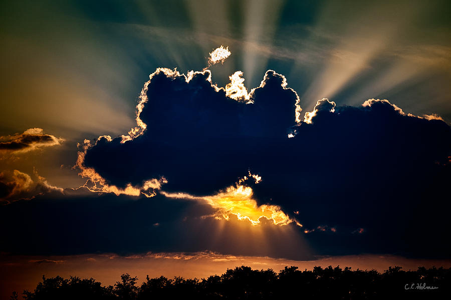 Clouds Photograph - Gate To The Golden City by Christopher Holmes