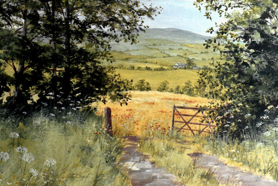 Landscape Painting - Gateway To The Vale by Stuart Parnell