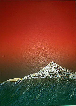 Landscape Mixed Media - Gaustatoppen 2 by Jarle Rosseland