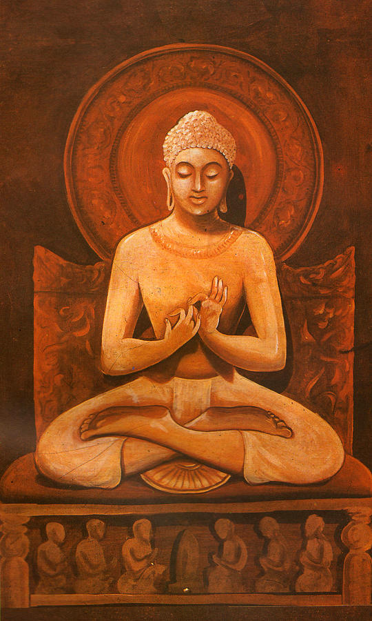 Gautam Buddha, Hindu Vadic Artwork India Painting by Jagannath