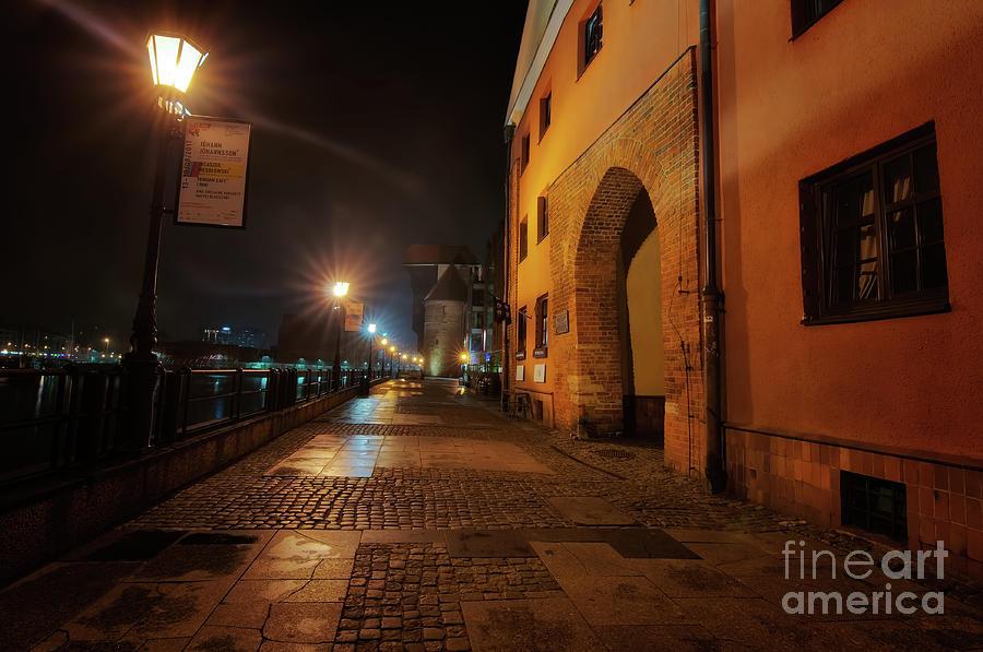 Gdansk At Night Photograph