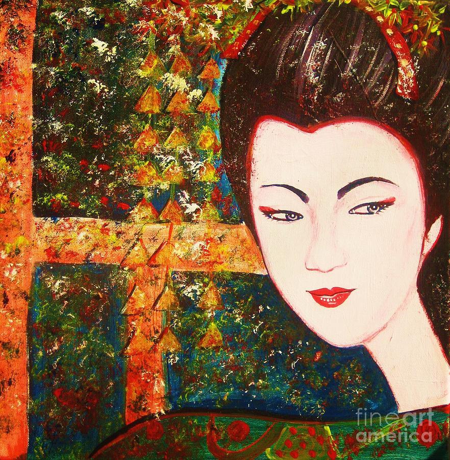 Geisha Painting - Geisha by Anastasis  Anastasi