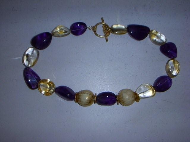 Elegant Amethyst Jewelry - Gemstone Necklace by Antoinette DAndria Rumely