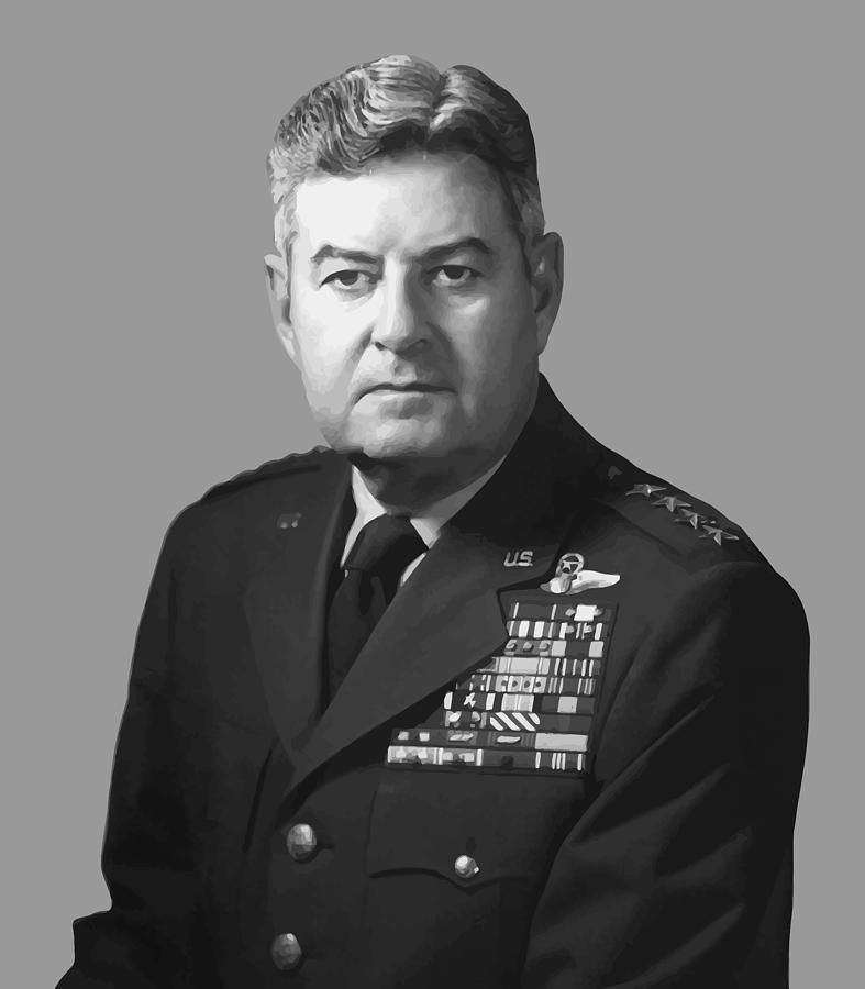 Curtis Lemay Painting - General Curtis Lemay by War Is Hell Store