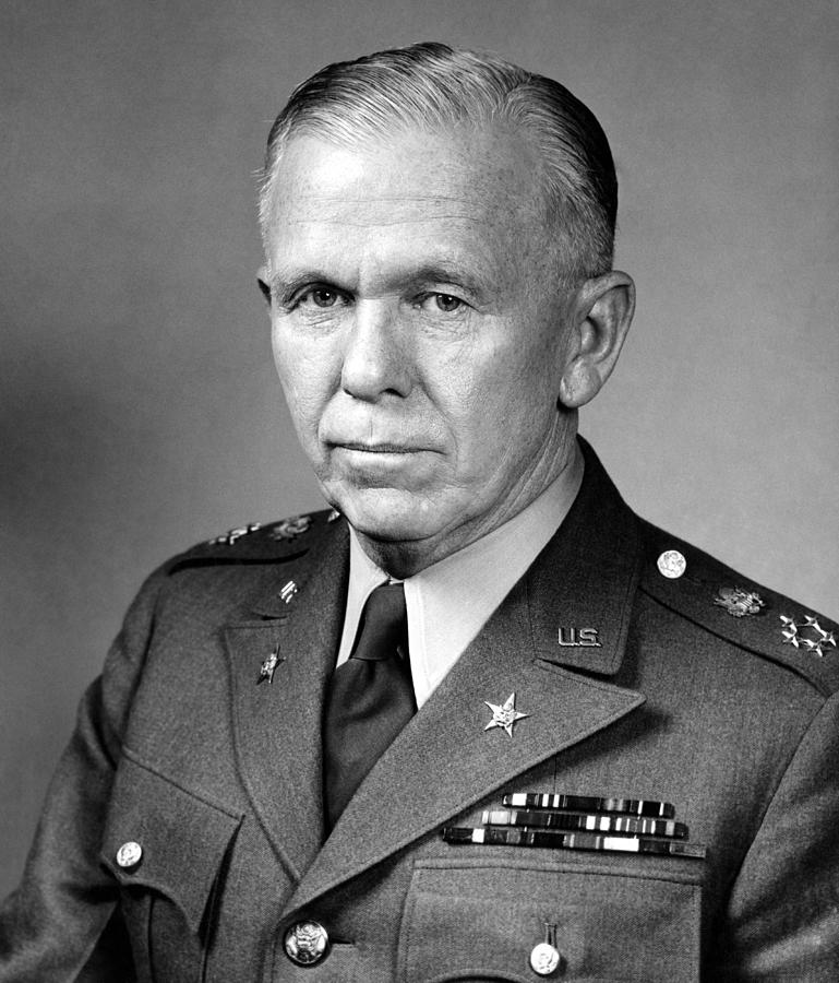 George Marshall Photograph - General George Marshall by War Is Hell Store