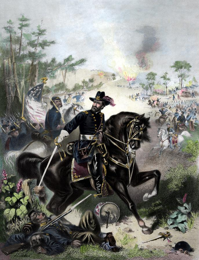 General Grant Painting - General Grant During Battle by War Is Hell Store