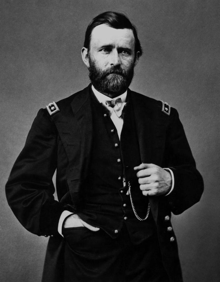 General Grant During The Civil War Painting