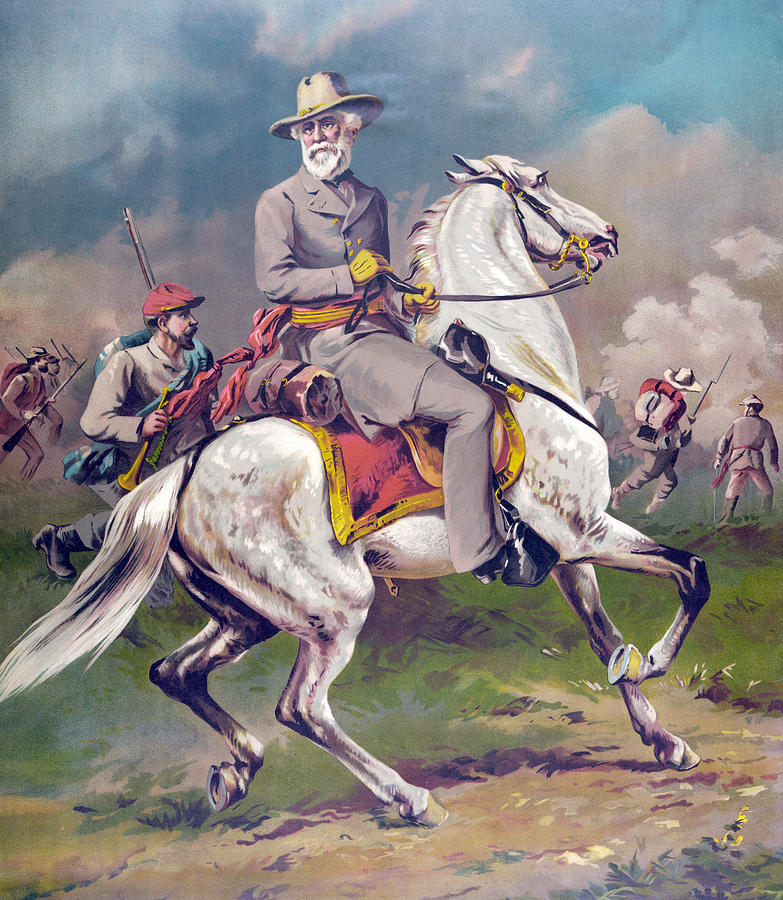 General robert e lee painting by american school for Lee s painting