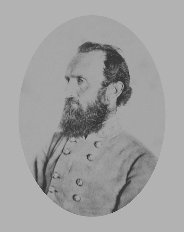 Stonewall Jackson Photograph - General Thomas Stonewall Jackson by War Is Hell Store