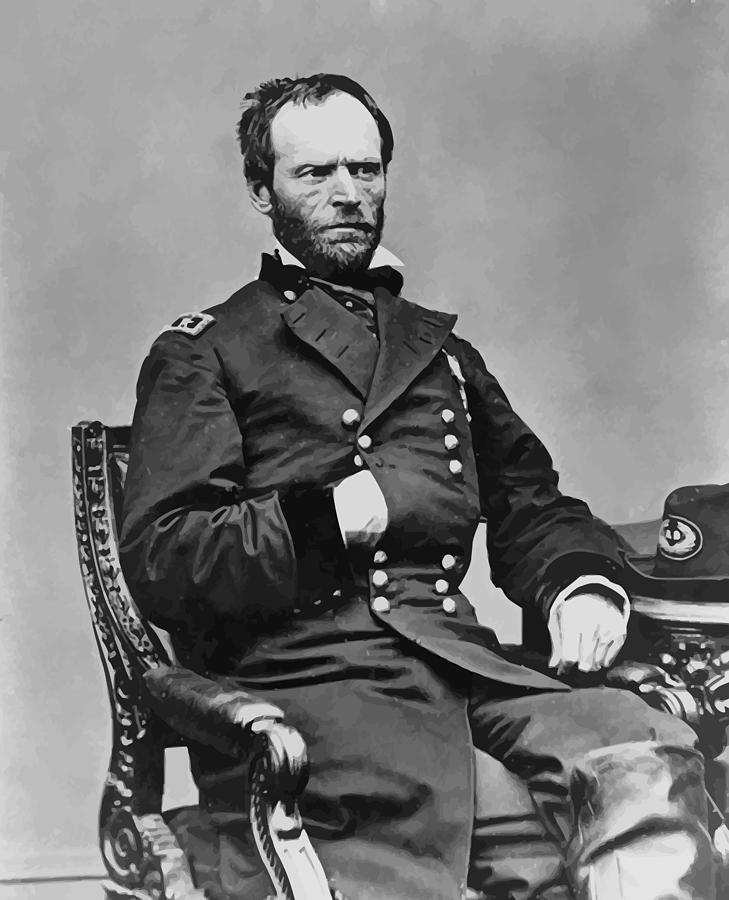 General Sherman Painting - General William Sherman by War Is Hell Store