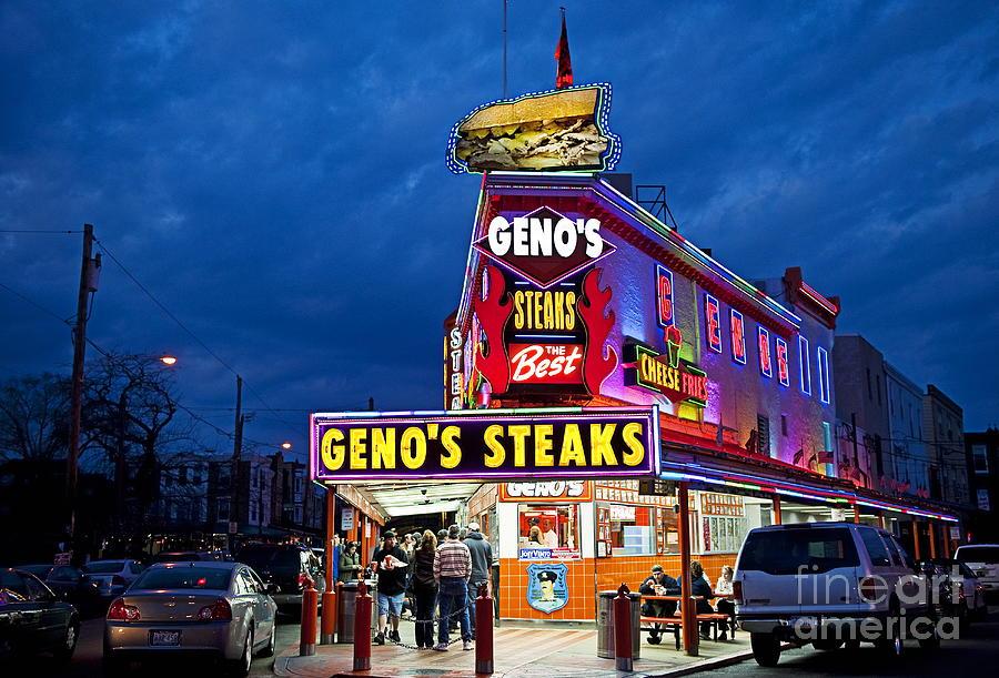 Philadelphia Photograph - Genos Steaks South Philly by John Greim