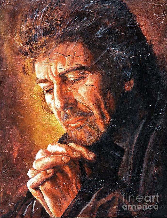The Beatles Painting - George by Igor Postash