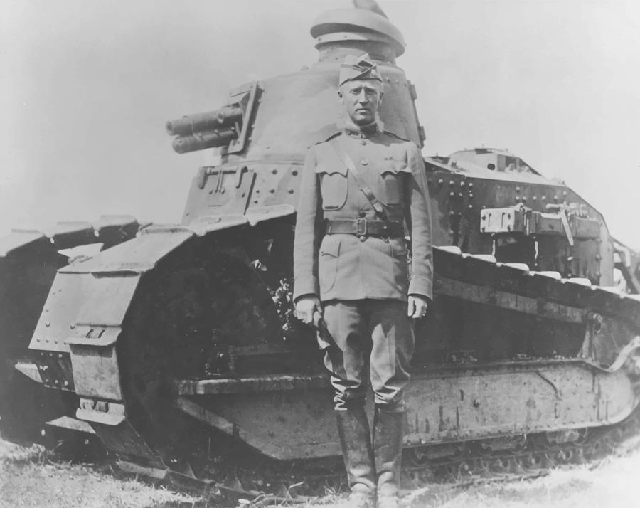 George S. Patton During World War One  Painting