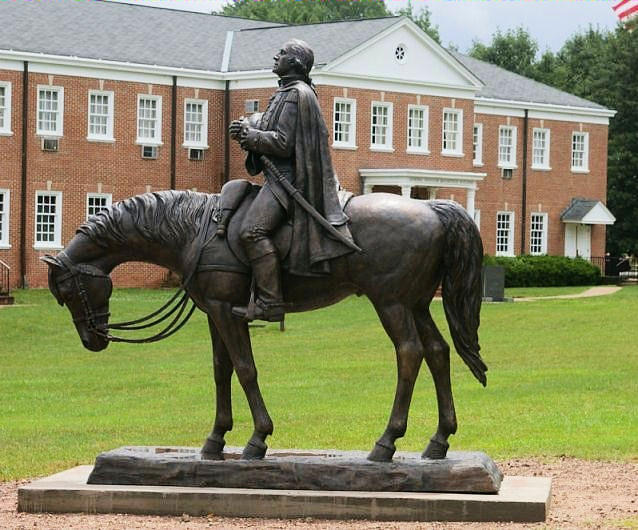 Bronze Sculpture - George Washington Equestrian Sculpture By Stan Watts And Kim Corpany by Stan Watts and Kim Corpany