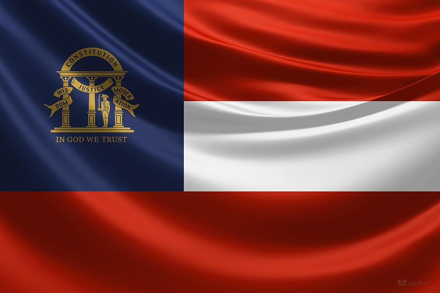 georgia state flag - photo #18
