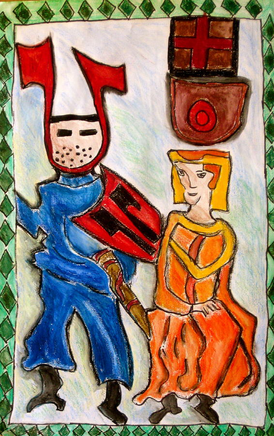 Knights Painting - German Castle Painting by Susan Stader
