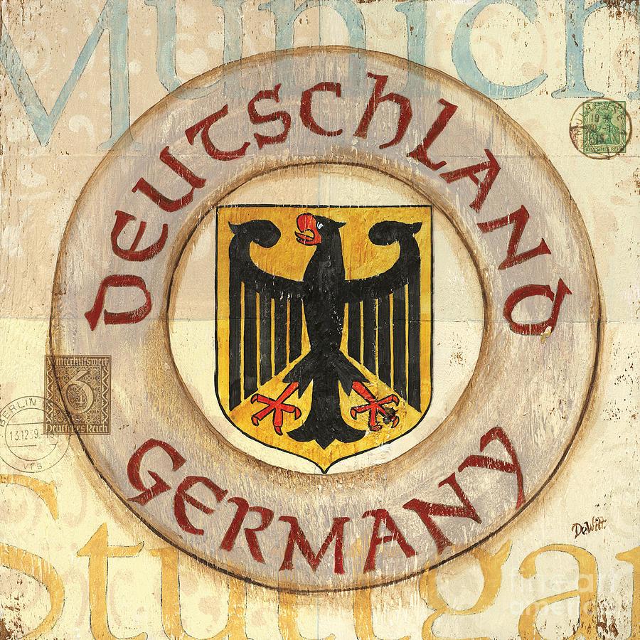Germany Painting - German Coat Of Arms by Debbie DeWitt